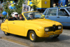 Sweden - Helsingborg: students' graduation parade - old Saab cabrio - classical car (photo by Charlie Blam)