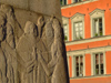 Sweden - Stockholm: detail of monument on Kornhamnstorg square - Gamla Stan (photo by M.Bergsma)