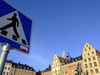 Sweden - Stockholm: pedestrian sign - Kornhamnstorg square - Gamla Stan (photo by M.Bergsma)
