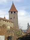 Switzerland / Suisse / Schweiz / Svizzera -  Murten / Morat: ramparts remparts - town walls - ringmauern (photo by Christian Roux)