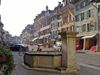 Switzerland / Suisse / Schweiz / Svizzera -  Murten / Morat: main street - fountain / rue centrale (photo by Christian Roux)