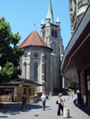 Switzerland - Suisse - Lausanne: St-Fran�ois church / eglise St-Francois - photo by C.Roux