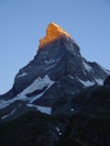 Switzerland / Suisse / Schweiz / Svizzera - Matterhorn / Mont Cervin / Cervino: dawn arrives - at Sunrise / aube  - Swiss Alps / Alpi Pennine (photo by C.Roux)