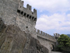 Switzerland - Bellinzona, Ticino canton: walls of the Castelgrande - photo by J.Kaman