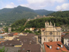 Switzerland - Bellinzona, Ticino canton: the town and the castle - photo by J.Kaman