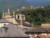 Switzerland - Bellinzona, Ticino canton: roofs and the castle - photo by J.Kaman