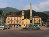 Switzerland - Bellinzona, Ticino canton: obelisk - photo by J.Kaman