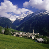 Switzerland - Soglio, Graubünden / Grisons: town built northern side of the Val Bregaglia / Bergell Tal - Alps - district of Maloja - photo by W.Allgower