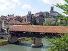 Switzerland / Suisse / Schweiz / Svizzera -  Fribourg / Freiburg: Bern bridge - Covered bridge / pont de Berne (photo by Christian Roux)