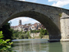 Switzerland / Suisse / Schweiz / Svizzera -  Fribourg / Freiburg: the middle bridge and the Cathedral / pont du milieu - cathedrale (photo by Christian Roux)