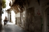 Damascus: riding a bike - street in the old town (photographer: John Wreford)