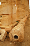 Palmyra / Tadmor, Homs governorate, Syria: Roman pipes - photo by M.Torres / Travel-Images.com