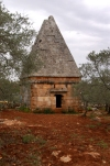 Syria - Al Bara (Idlib governorate): Pyramidal tomb at the dead city of Albara (photo by J.Wreford)