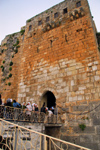 Crac des Chevaliers / Hisn al-Akrad, Al Hosn, Homs Governorate, Syria: students wait to enter the castle - UNESCO World Heritage Site - photo by M.Torres /Travel-Images.com