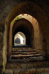 Crac des Chevaliers / Hisn al-Akrad, Al Hosn, Homs Governorate, Syria: passage in the outer walls - UNESCO World Heritage Site - photo by M.Torres /Travel-Images.com