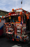Maaloula - Rif Dimashq governorate, Syria: colourful bus - Middle Eastern decoration - photo by M.Torres / Travel-Images.com