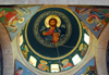 Maaloula - Rif Dimashq governorate, Syria: St Takla monastery - dome of the church - Christ Pantocrator - photo by M.Torres / Travel-Images.com