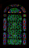 Syria - Damascus: Omayyad Mosque - stained glass window - Islamic geometric and floral motives - photographer: M.Torres