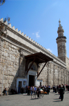 Syria - Damascus: Umayyad / Omayyad Mosque - Western entrance and minaret, facing Souq al-Hammadiyyeh - Jaami al-Amawi - photographer: M.Torres