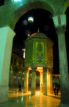 Syria - Damascus: Omayyad Mosque - the Caliphs' treasure - Beit al Mal - nocturnal view from under the rivaq - Masjid Umayyad - Ancient City of Damascus - Unesco World Heritage site - photographer: M.Torres