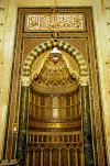 Syria - Damascus: Omayyad Mosque - mihrab - niche indicating the qibla, the direction of Kaaba in Mecca - Masjid Umayyad - photographer: M.Torres