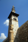 Syria - Damascus: Omayyad Mosque - Minaret of the Bride seen from outside the mosque - Masjid Umayyad - photographer: M.Torres