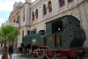 Damascus, Syris: old steam locomotive at the Hejaz rail station - photographer: M.Torres