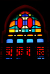 Damascus, Syria: the Hejaz rail station - colorful window - photographer: M.Torres