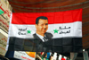 Damascus, Syria - Souq Al Hamidiyeh - flag with Bashar al-Assad - photo by M.Torres / Travel-Images.com