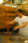 Damascus, Syria - Souq Al Hamidiyeh - making ice-cream - Backdach ice-cream parlour - photo by M.Torres / Travel-Images.com
