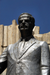 Damascus, Syria: Hafez al Assad statue - close - Salhiya - photographer: M.Torres
