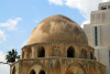 Damascus: dome of an old mosque and the Four Seasons hotel - photographer: M.Torres