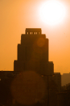 Damascus, Syria: Four Seasons hotel - agianst the sun - Shukri Al Quatli Street - landmark - photographer: M.Torres