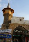 Damascus, Syria: Bab al Sagher - the 'small' gate - southern wall - minaret - photographer: M.Torres
