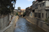 Damascus, Syria: the Barada river as seen from Sa'd Zagloul street, NW of the old city - photo by M.Torres