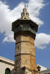 Damascus, Syria: stand alone minaret near the Roman arch, Via Rectat - religion - architecture - Islam - photographer: M.Torres