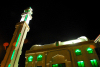 Damascus, Syria: modern mosque - Pakistan street, 17th April square - nocturnal - photographer: M.Torres