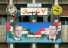 Syria - Damascus: Bashar al-Assad and Hafez al-Assad - Baath Party propaganda - An-Nasr street - photo by  M.Torres