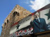 Damascus / Damasco, Syria: billboard - Bashar al-Assad salutes visitors entering souk Al-Hamideya - Sa'd Zagloul street - photographer: M.Torres