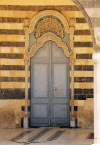 Damascus / Damasco: St Mary's Greek orthodox church - Church of the Virgin - Maryam church - door - photo by M.Torres