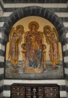 Damascus / Damaskus - Syria: St. Paul's Greek Catholic church - mosaic in a niche - photo by M.Torres