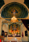 Damascus / Damaskus - Syria: Saint Sarkis Armenian Apostolic Church Christ and the angels - altar - photo by M.Torres