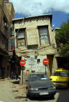 Damascus, Syria: leaning building off Via Recta - houses of Damascus - photographer: M.Torres