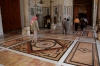 Syria - Damascus / Damas Esh Sham / Damasco / Dimashq / ash-Sham / DAM : Omayyad / Umayyad Mosque - inside - tiled floor entrance to prayer hall (photographer: John Wreford)