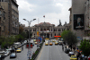 Damascus: Said al-Jabri av. and Hejaz station - central post office on the right - photo by M.Torres