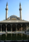Damascus, Syria: pond by the Sinan mosque - Ottoman mosque - photographer: D.Ediev