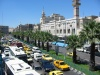 Syria - Damascus: traffic - Dankiz Mosque and An'Nasr street, formerly a Military School - photographer: D.Ediev
