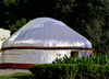 Dushanbe, Tajikistan: silk yurt on the Moscow 800th anniversary square - photo by M.Torres