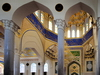 Dushanbe, Tajikistan: interior of the Haji Yakoub Mosque - dome with ornate muqarnas - Hanafi school of Sunni Islam - Rudaki Avenue -  central mosque of Dushanbe - photo by M.Torres