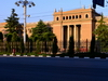 Dushanbe, Tajikistan: neo-classical portico of the old presidential palace, Soviet building on Rudaki avenue - photo by M.Torres